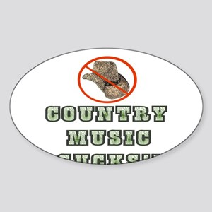 Country Music Sucks! Oval Sticker